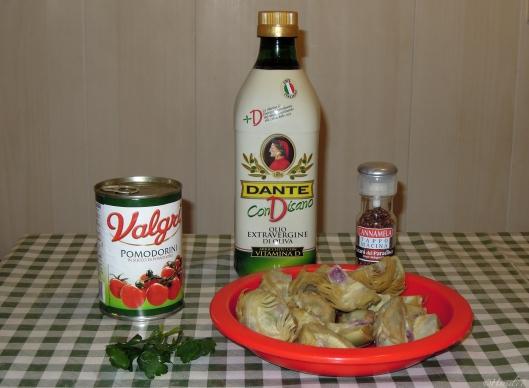 cuori di carciofi al pomodoro_ingredienti